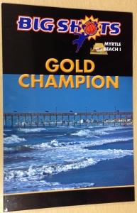 Big Shots Myrtle Beach Championship Plaque